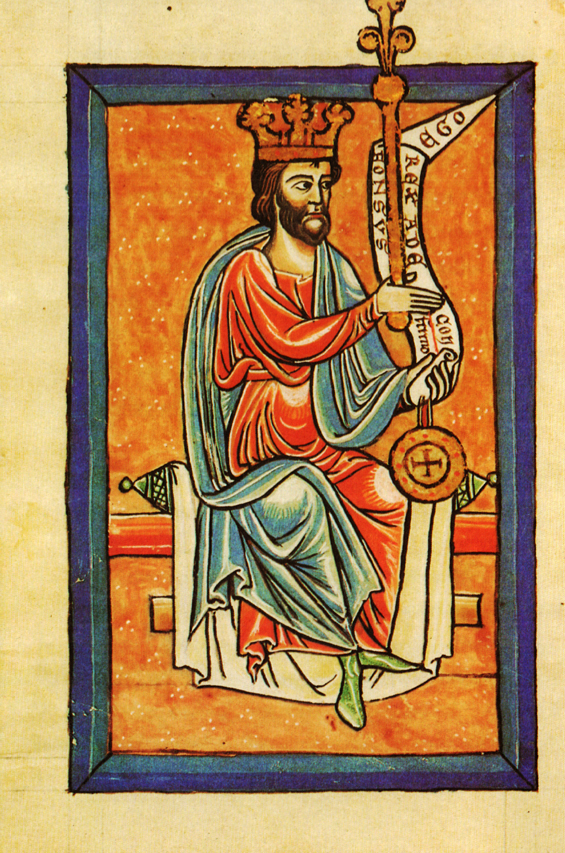 El rey Alfonso V , responsable del Fuero de León según el Libro de las Estampas de la Catedral de León
