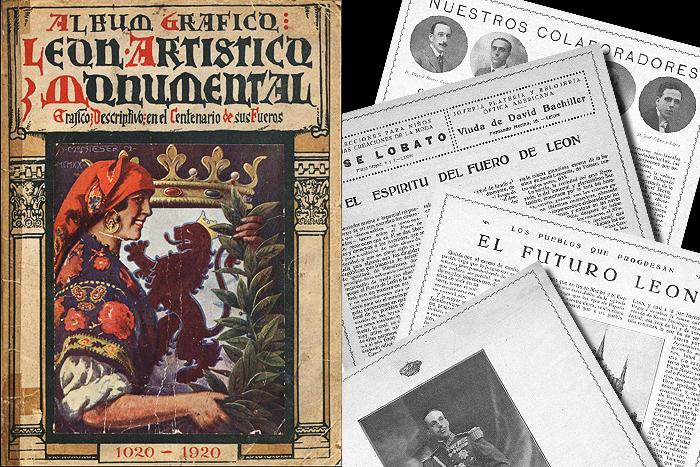 Álbum gráfico publicado con motivo de la conmemoración del noveno aniversario del Fuero de León en 1920