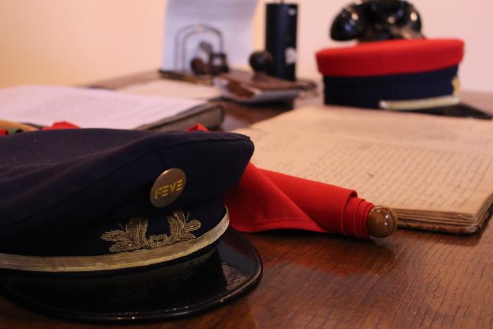 Oficina de circulación del jefe de estación en el Museo del Ferroviario de Cistierna
