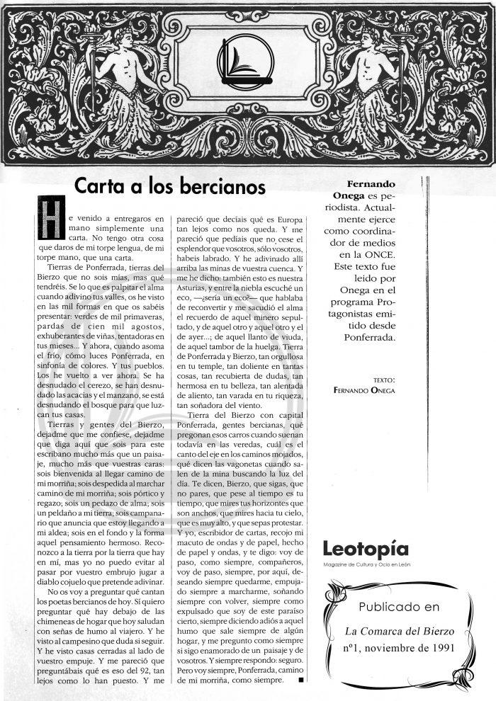 Ónega El Bierzo Leotopía