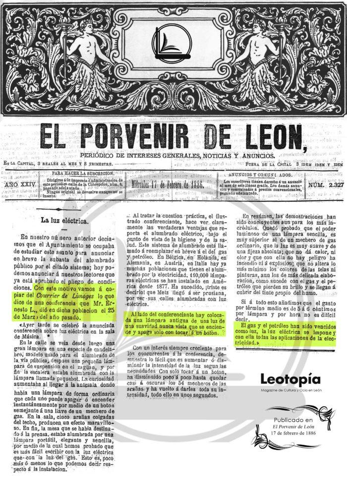 luz eléctrica en León