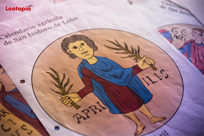 El calendario agrícola de San Isidoro de León para colorear: abril