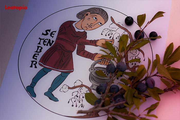 El calendario agrícola de San Isidoro de León para colorear: septiembre
